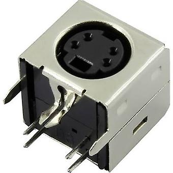 Mounted Mini DIN socket Number of pins: 4 Connfly Content: 1 pc(s)