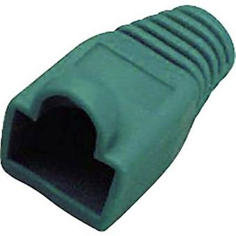 RJ45 Plug connector CAT 6A with kink protection sleeve Bend relief Number of pins: 8P8C Green BKL Electronic 143306 1 pc(s)