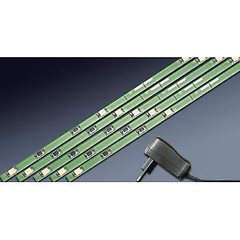 VOLTCRAFTLED lighting set, solder-free LED-entry-level, warm white, 5pc LED-light strips 2.7W