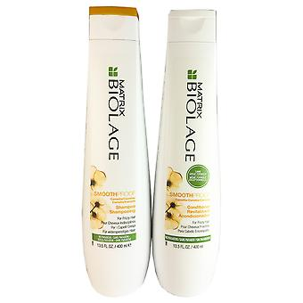 Matrix Biolage Smoothproof Shampoo & Conditioner Set for Frizzy Hair 13.5 oz DUO