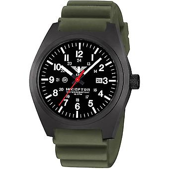 KHS mens watch interceptor black steel KHS. INCBS. DO