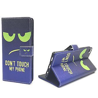 Dont touch my phone mobile case Huawei P8 Flip case Wallet case