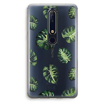Nokia 6 (2018) Transparent Case (Soft) - Tropical leaves