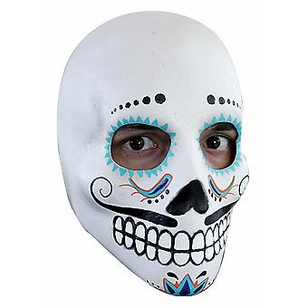 Catrin Deluxe Skull Day Of The Dead Skeleton Mens Costume Overhead Latex Mask