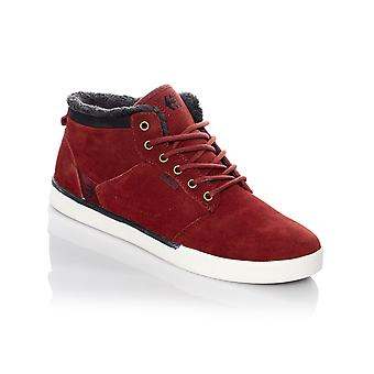 Etnies Burgundy-Gold Jefferson Mid Sherpa Lined Shoe