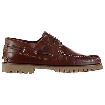 Firetrap Mens Jose Boat Shoes Lace Up Gripped Sole Fashion Stitched Detailing