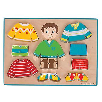 Holz-Dress up Puzzle junge, 10pcs.