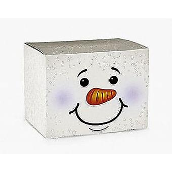 12 Snowman Card Christmas Favour or Gift Boxes | Christmas Party Loot Bags