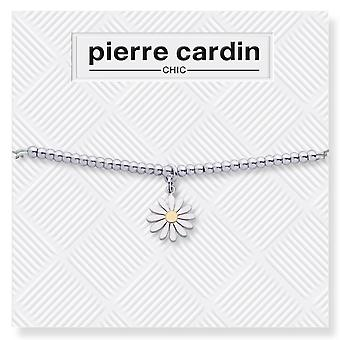 Pierre Cardin bracelet ladies with flower-shaped pendant silver