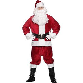 豪华圣诞老人西装服装,一个尺寸