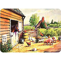 Premium Glass Worktop Protectors Farmyard Board Medium 3040FARM