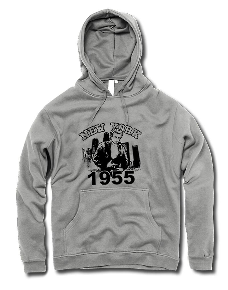 Mens Hoodie - James Dean NYC 1955 - Film Icône