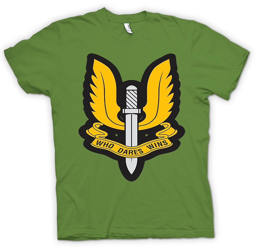 Mens T-shirt-Sas qui ose gagne le Badge - guerre