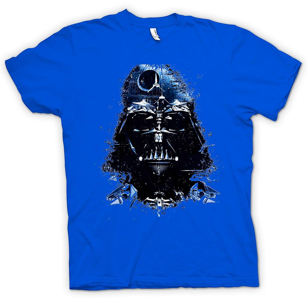 Mens t-skjorte - Darth Vader - Death Star