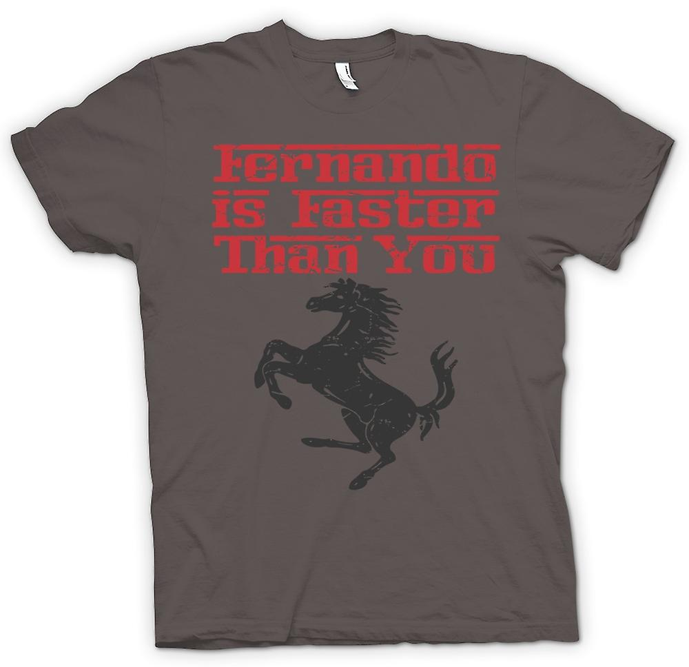 Womens T-shirt - Ferrari - Fernando Is Faster Than You