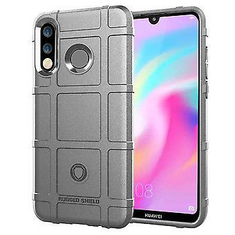 For Huawei P30 Lite skjold serien utendørs grå bag coveret beskyttelse nye