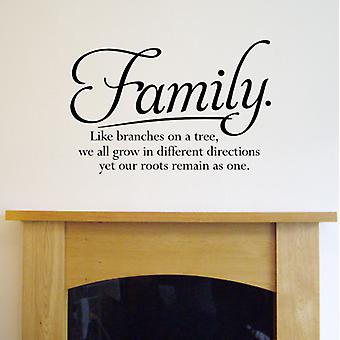 Family Wall Quote Sticker