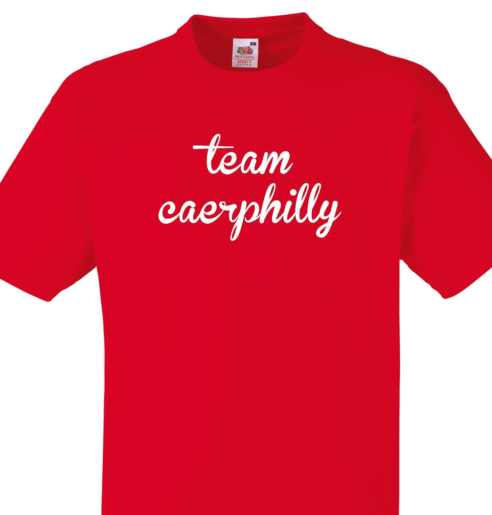 Team Caerphilly Red T shirt