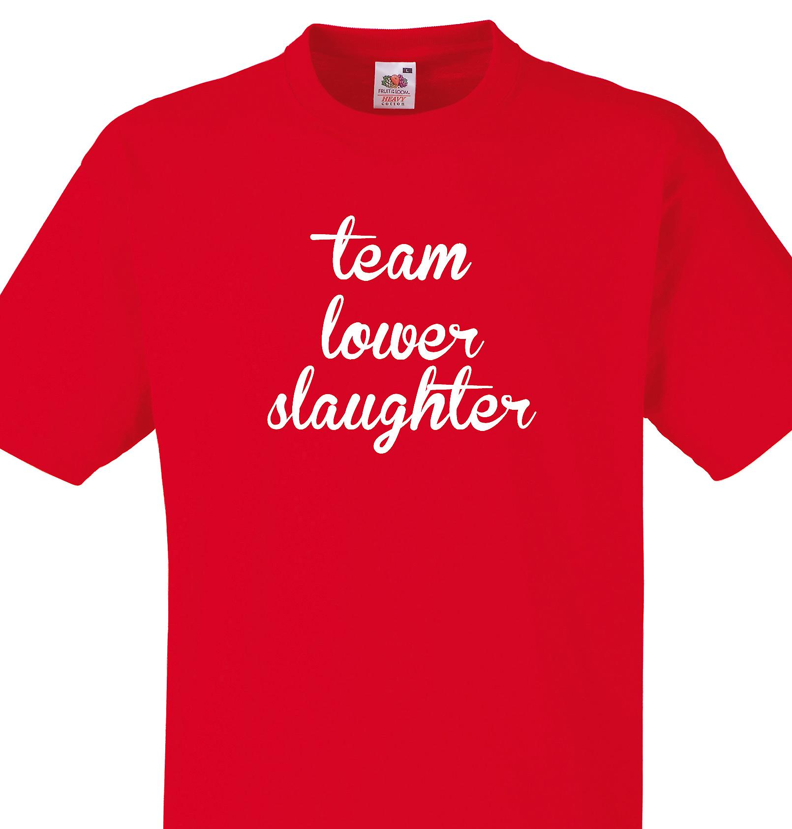 Team Lower slaughter Red T shirt