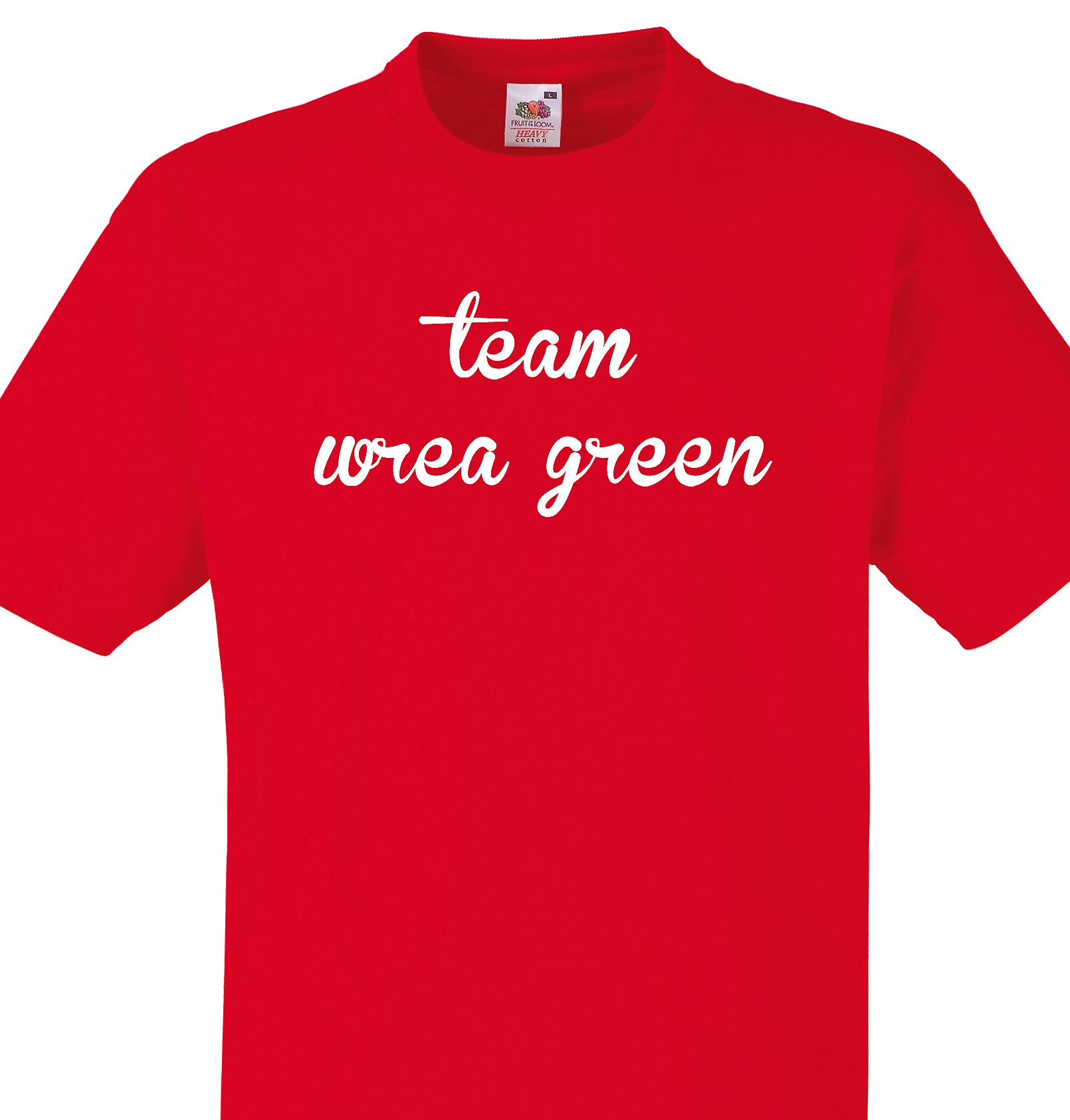 Team Wrea green Red T shirt