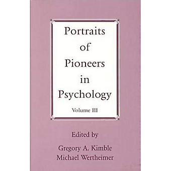 Portraits of Pioneers in Psychology: v. 3 (Portraits of Pioneers in Psychology)