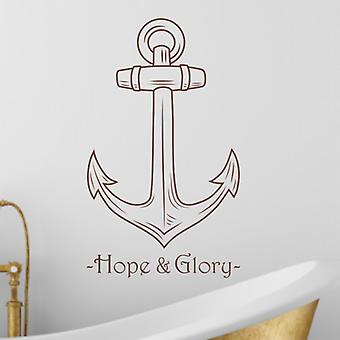 Hope & Glory Anchor Wall Art Sticker