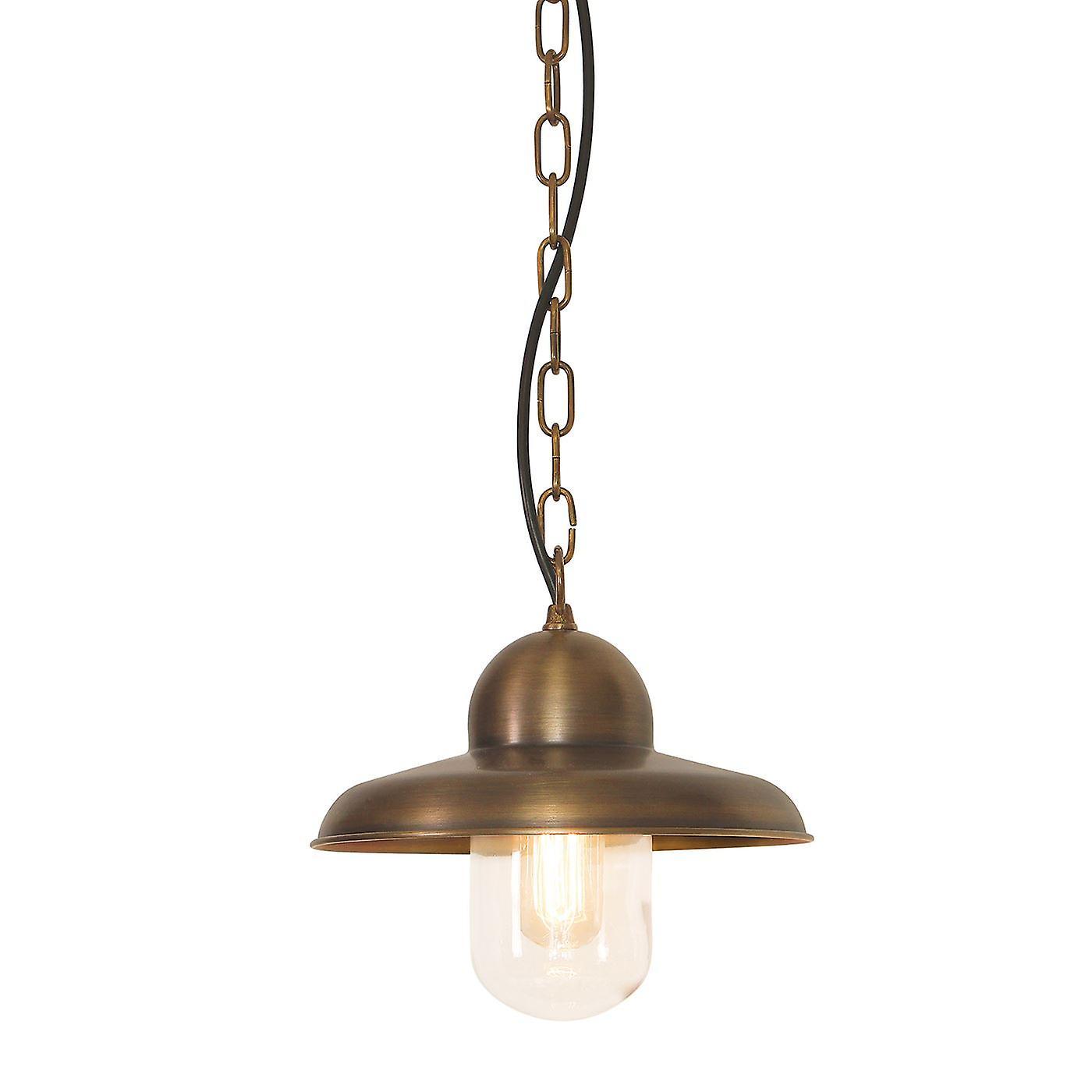 Somerton BRass Outdoor Ceiling Chain Lantern - Elstead Lighting Somerton Ch BR