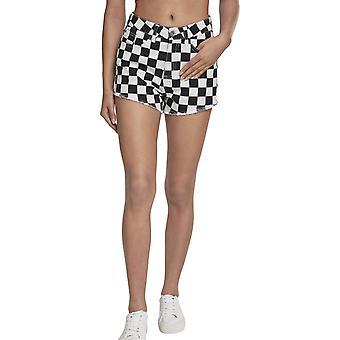 Urban Classics Ladies - Check Twill Hot Pants