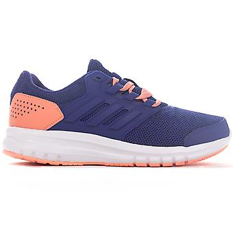 adidas Galaxy 4 Girls Running Trainer Shoe Purple/Peach