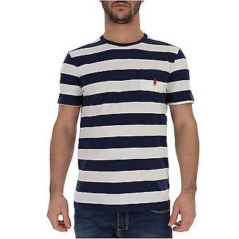Ralph Lauren weiss/blau Baumwoll T-shirt