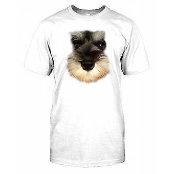 Schnauzer miniature Pedigree Dog Visage Hommes T-shirt