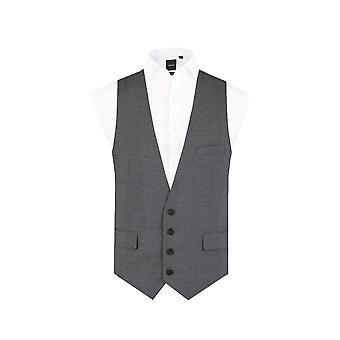 Добелл Mens Лайм серый жилет Slim Fit 4 кнопка
