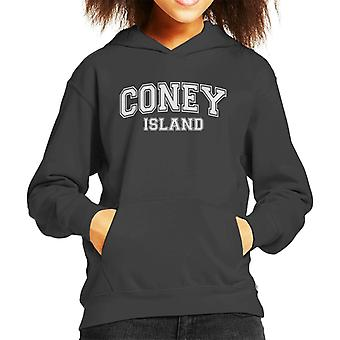 Coney Island College Text Kid's Hooded Sweatshirt