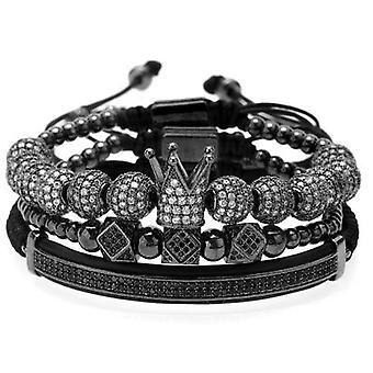 Armbandsset-Rhinestones in black and white, black