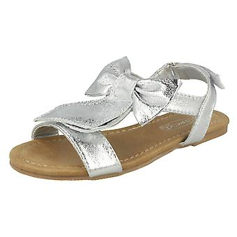 Girls Spot On Bow Trim Sandals H0319