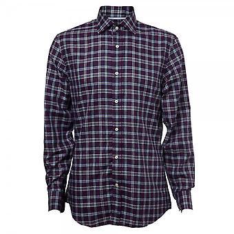 Hackett Long Sleeve Dark Twill Plaid Shirt