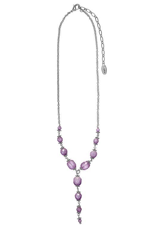 Damenkette pèlerin : médaillon violet/argent (502241)