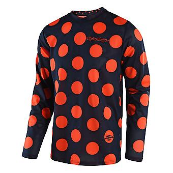 Troy Lee Designs Navy-Orange 2018 GP Air Polka MX Jersey