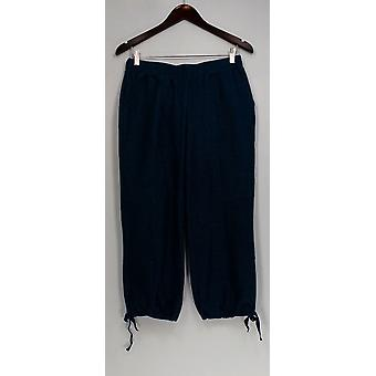 Lisa Rinna Collection Petite XSP Pull-On Ankle Length Knit Pants Blue A274675