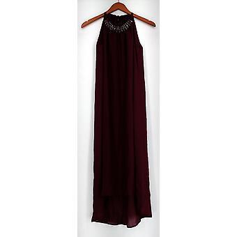 Fairchild Kleid Neckholder Kleid w / Band Krawatte & verziert Ausschnitt rot A427916