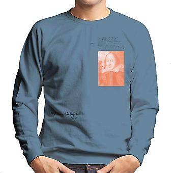 A.P.O.H William Shakespeare Writing Portrait Men's Sweatshirt
