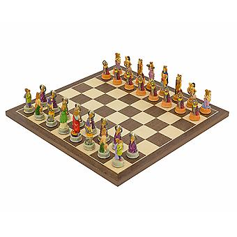 The Zodiac hand painted Italian themed Chess set by Italfama