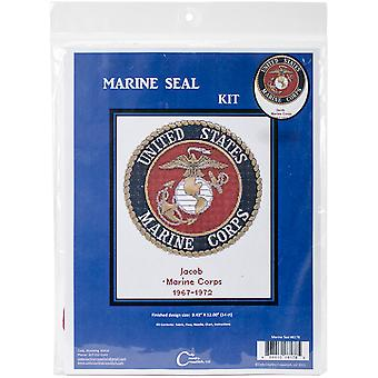 U.S. Marine Corps Emblem Counted Cross Stitch Kit-12