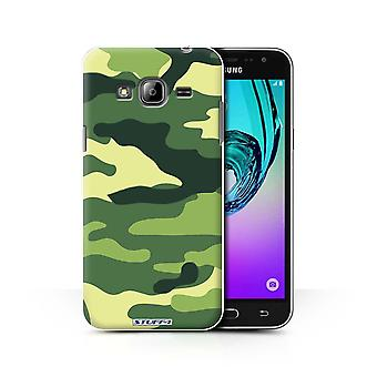 STUFF4 Case/Cover for Samsung Galaxy J3/Green 2/Camouflage Army Navy