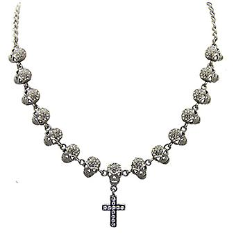 Butler  and  Wilson 15 Skulls  and  Cross Crystal Necklace