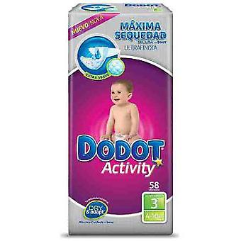 Dodot Diapers T- Activity 3 (4-10 kg) 58 Units (Jeugd , Nappies and Changers , Nappies)