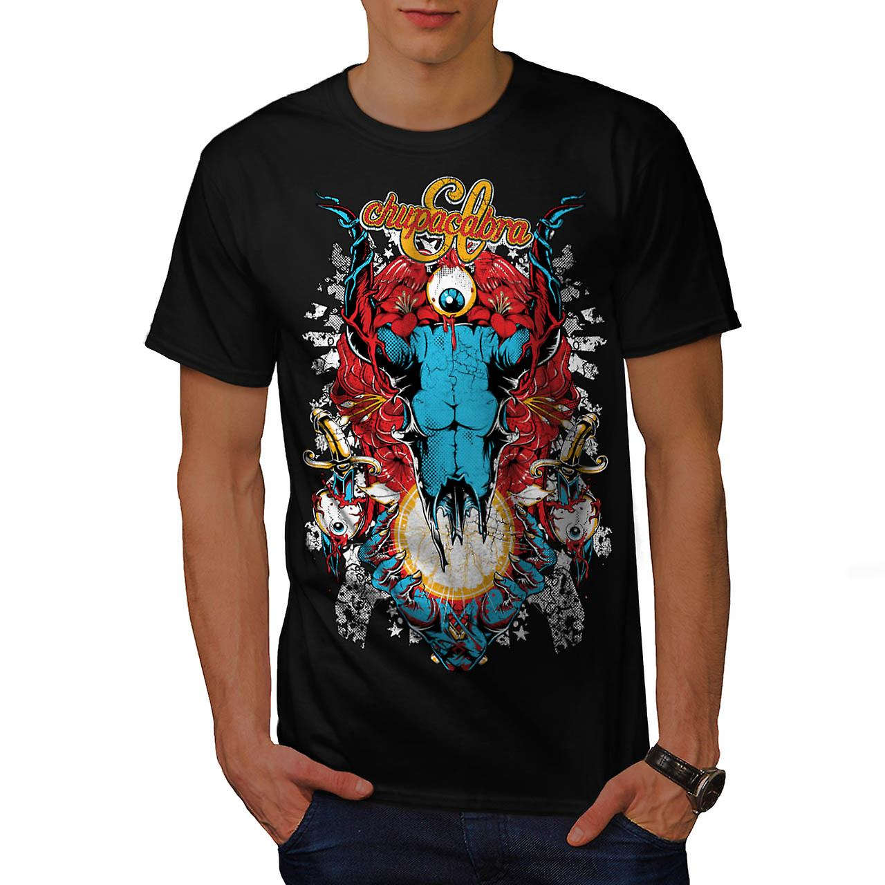Chupacabra Demon fan kung Satan män svart T-shirt | Wellcoda
