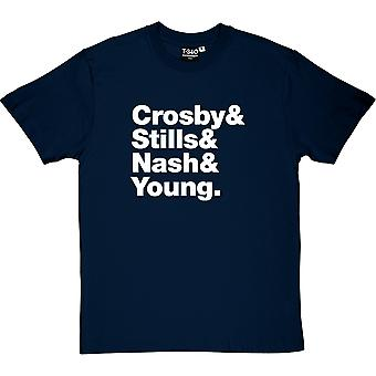 Crosby, Stills, Nash och unga Line-Up mäns T-Shirt