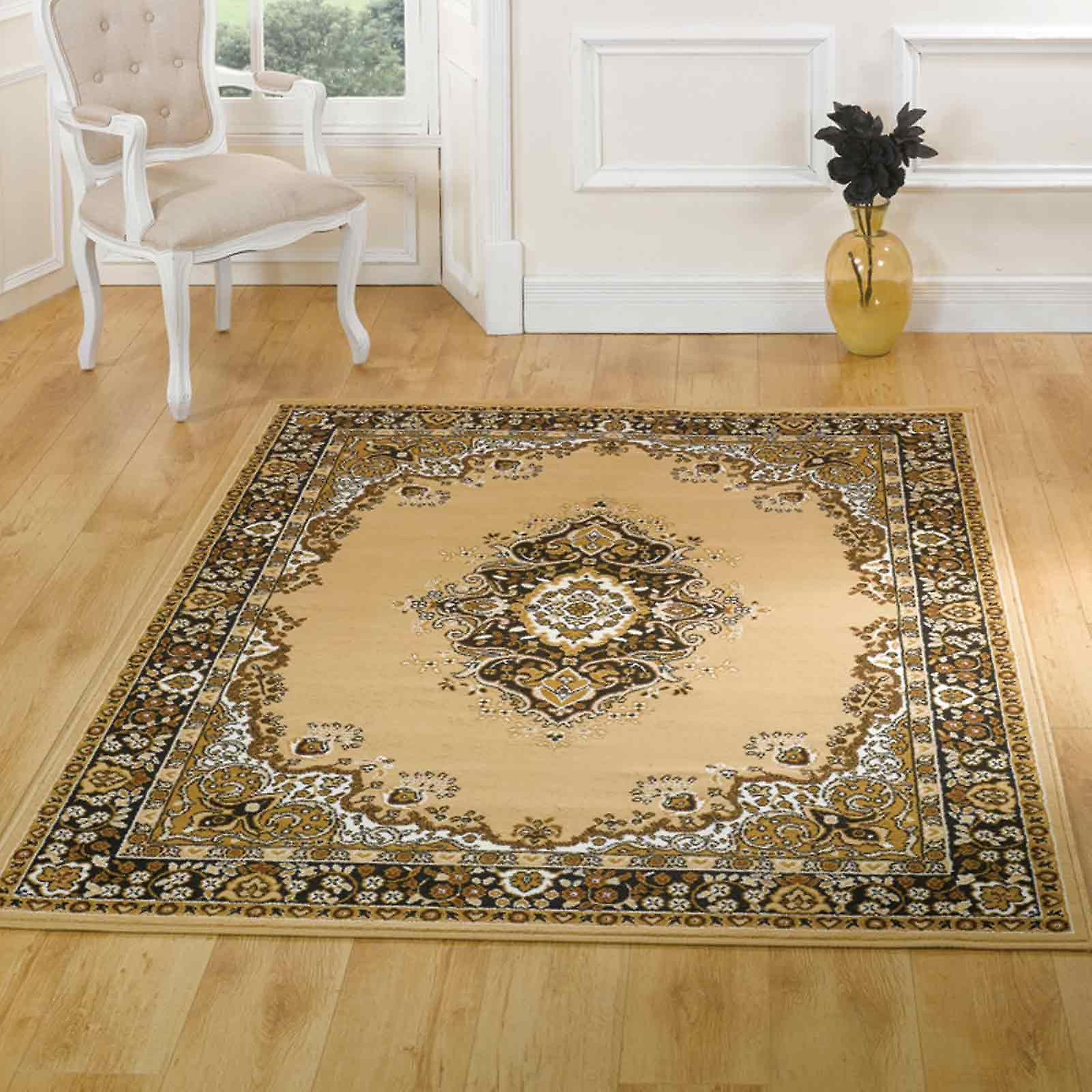 Lancaster Beige Traditional Rugs