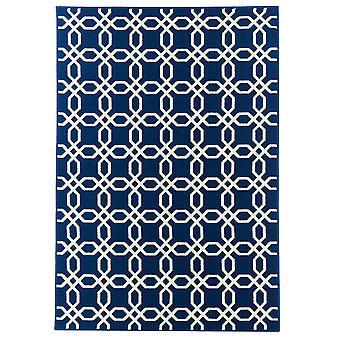 Marineblå kystnære marokkanske espalier tæppe - Floorit